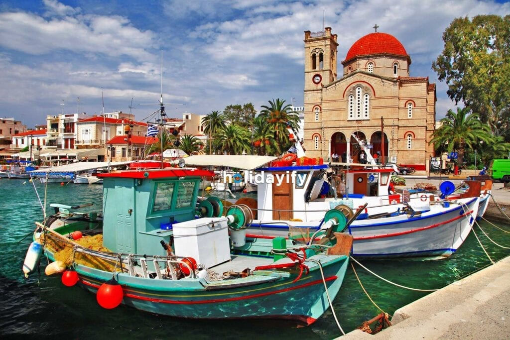 Aegina Beldesi, Saron Adaları, Yunanistan