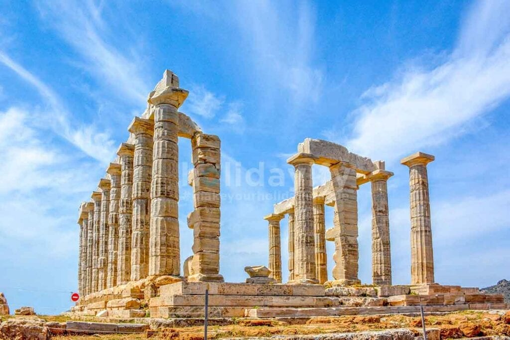 Antik Poseidon Tapınağı, Cape Sounion, Atina, Yunanistan