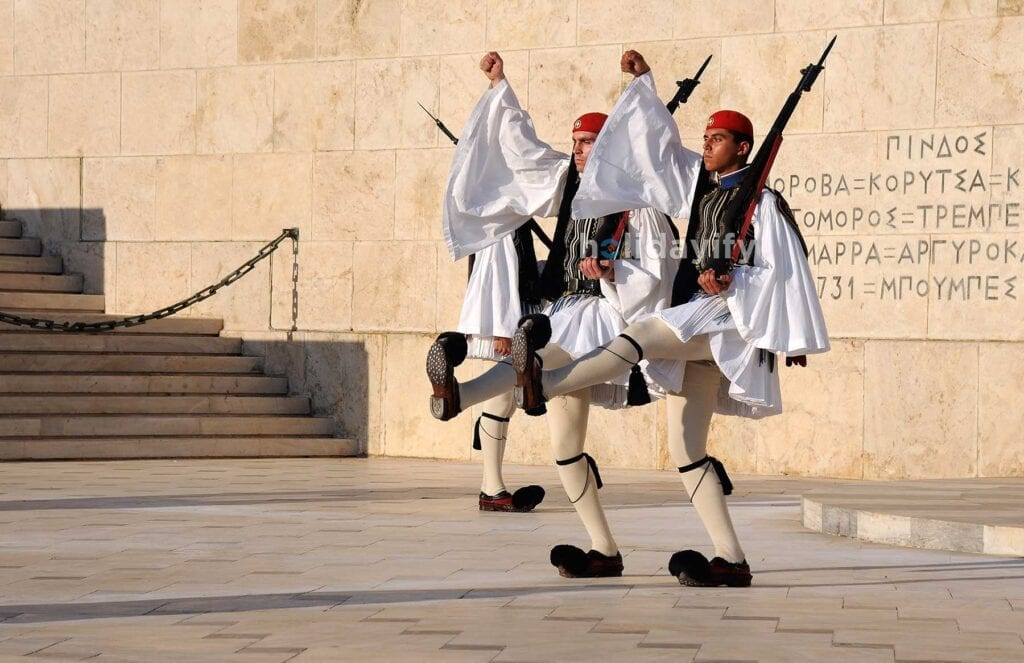 Yunan Tören Askerleri, Atina, Yunanistan
