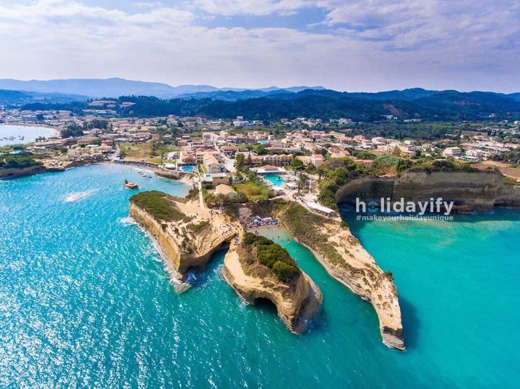 Sidari Canal D Amour Plajı, Korfu