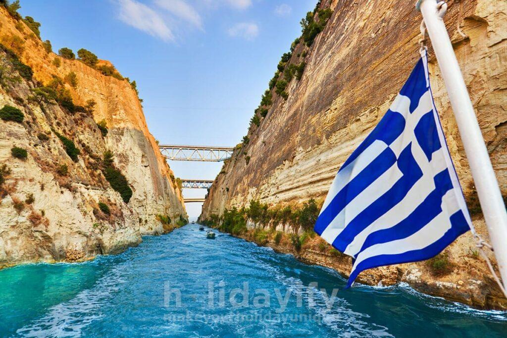 Korint Kanalı, Mora Yarımadası
