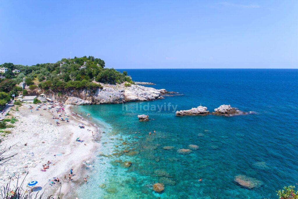 Damouchari plajı, Pelion, Yunanistan