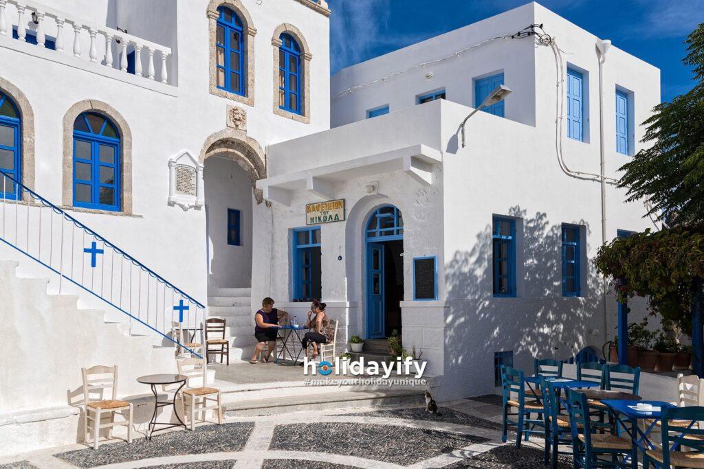 Nisiros'ta Geleneksel Bir Kafe