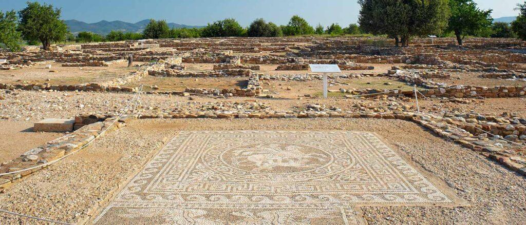 Antik Olynthos, Halkidiki, Yunanistan
