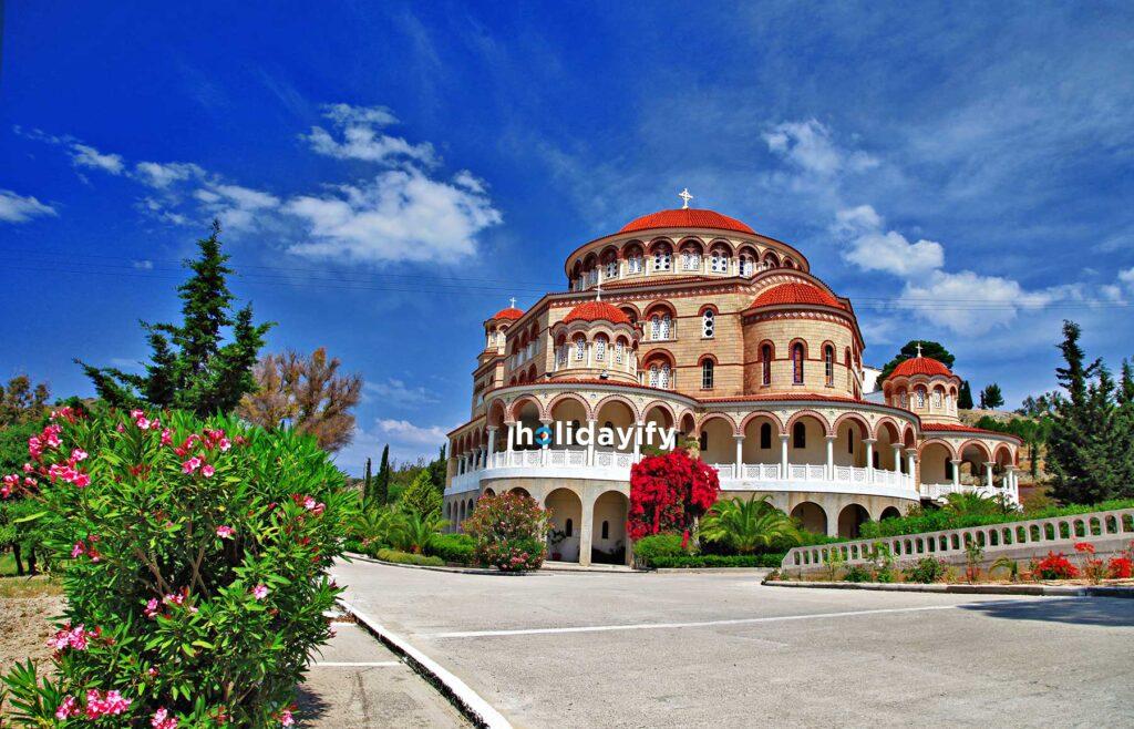 Agios Nektarios Manastırı, Aegina Adası, Yunanistan