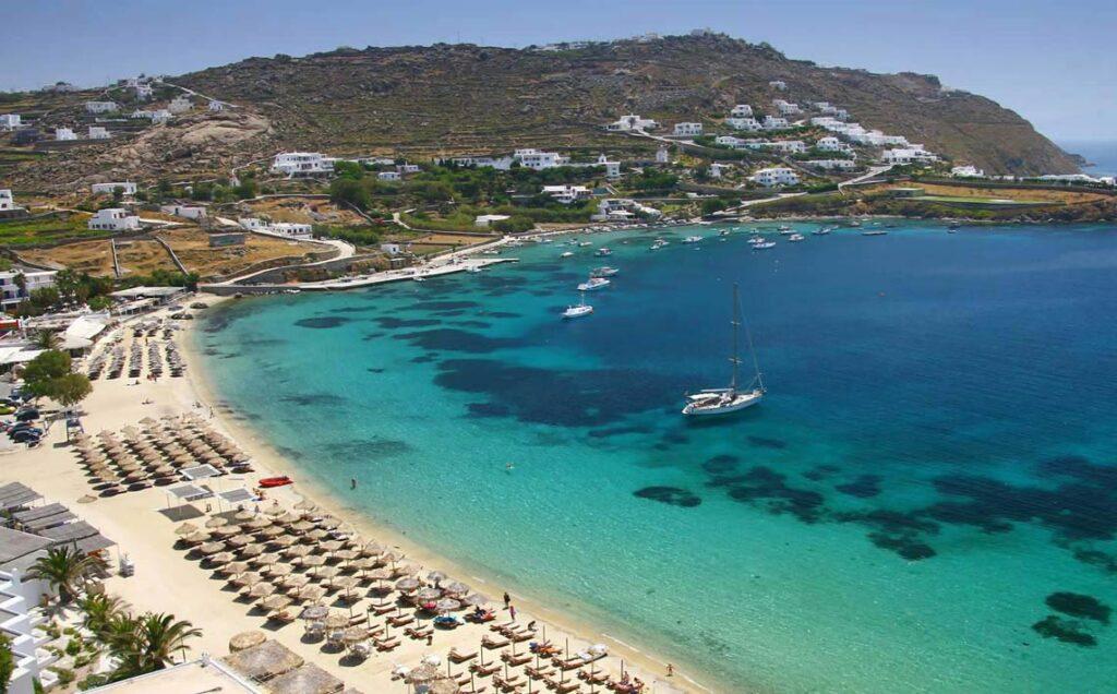 Ornos Plajı, Mykonos Adası