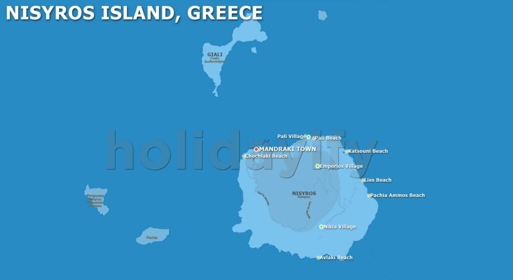 Nisiros Haritası