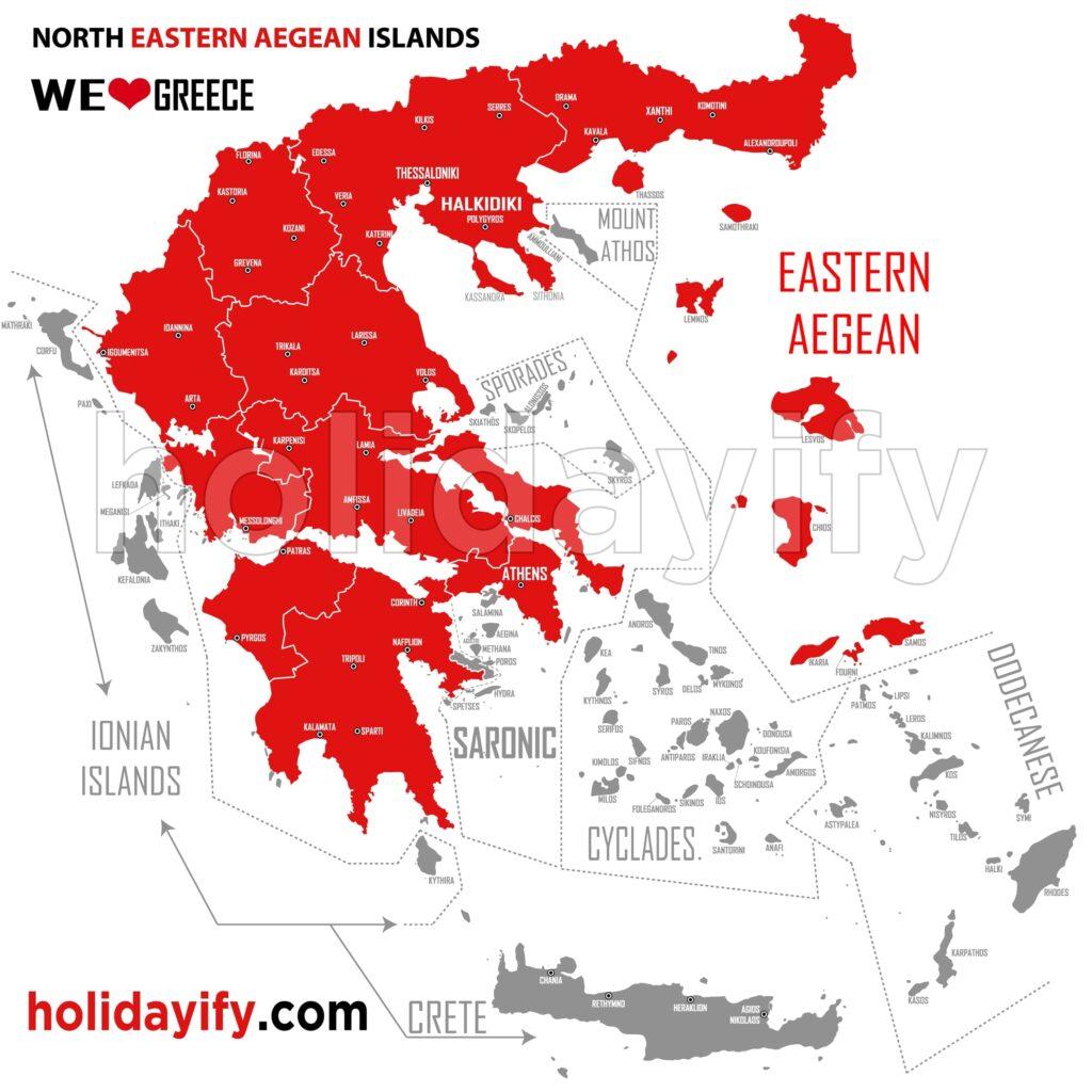 Kuzey Doğu Ege Adaları Nerededir