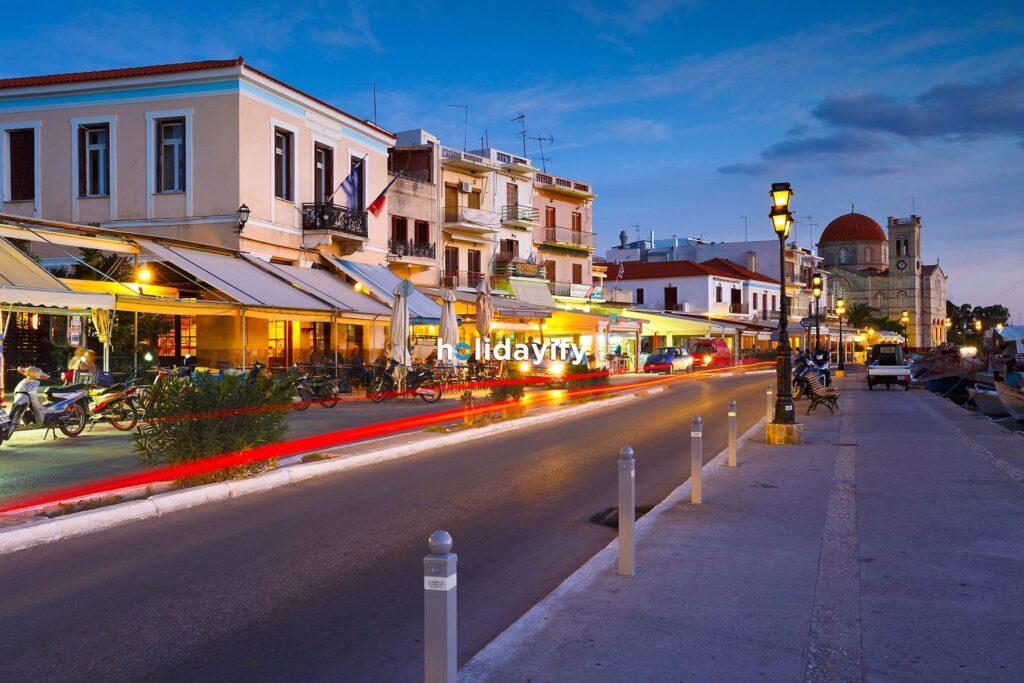 Aegina Adasında Gece Hayatı, Yunanistan