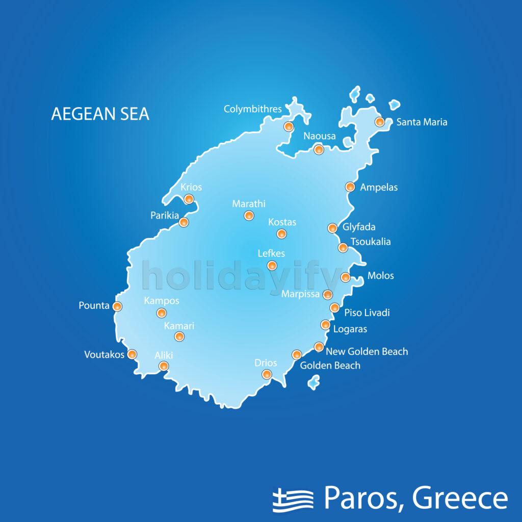Paros haritası
