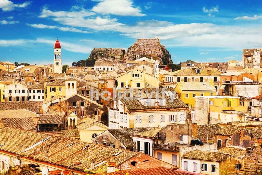 Korfu Adası içinde eski şehir