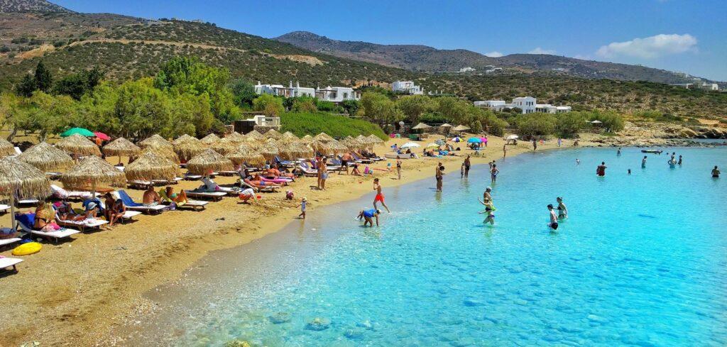 Faragas plajı, Paros adası