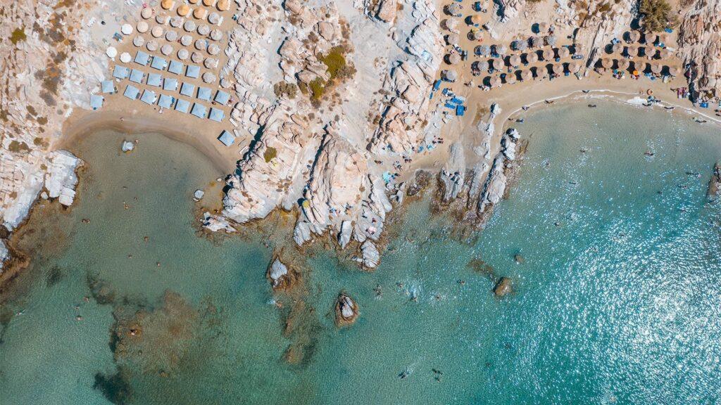 Kolymbithres plajı, Paros