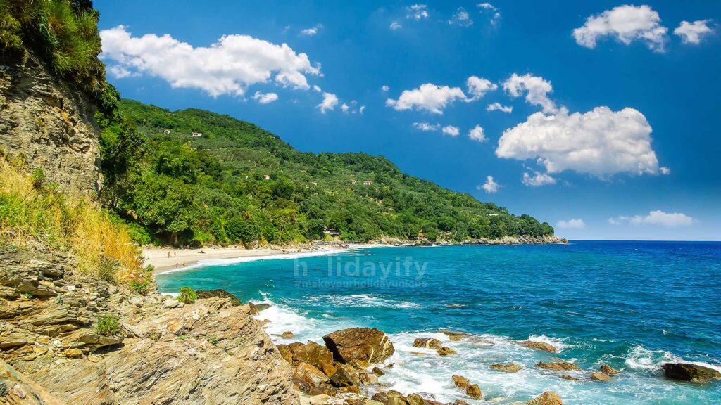 Plaka plajı, Pelion, Yunanistan