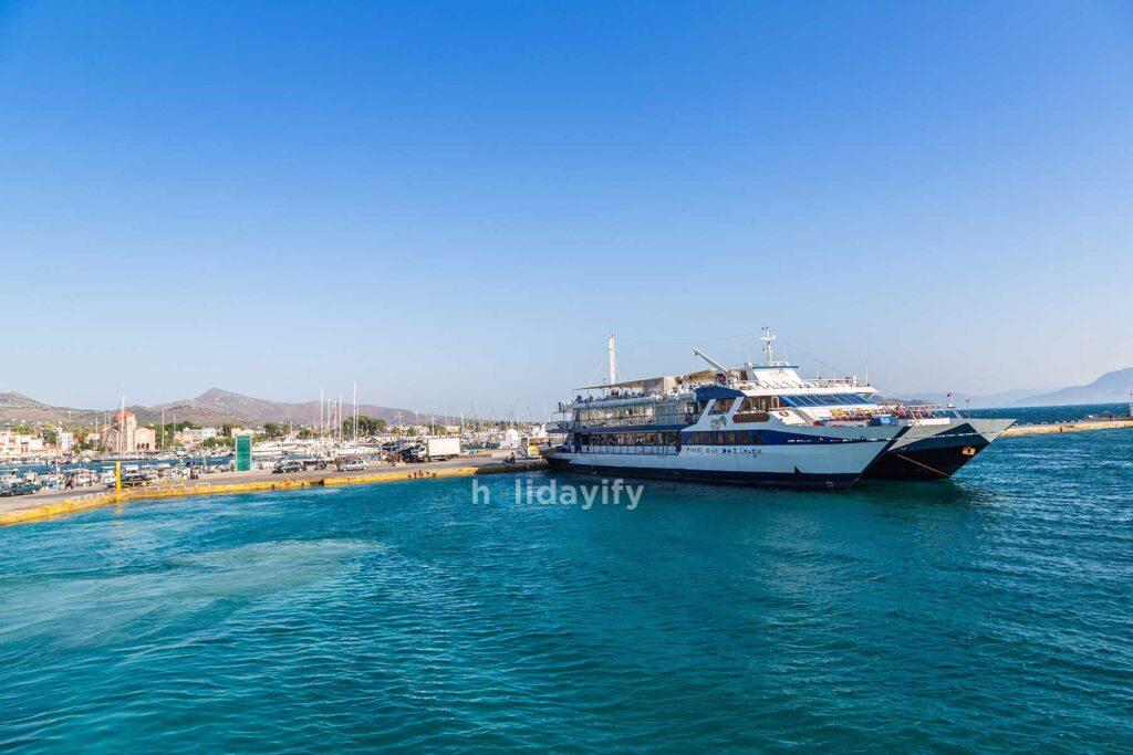 Aegina Limanı, Feribot, Yunanistan