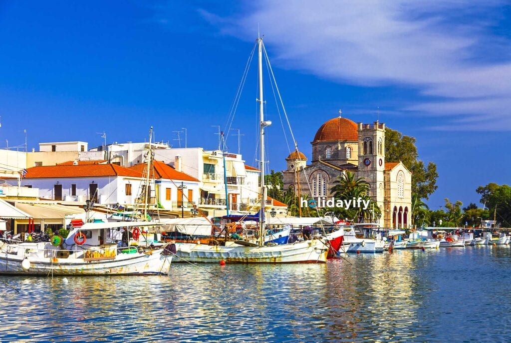 Aegina Limanı, Saron Adaları, Yunanistan