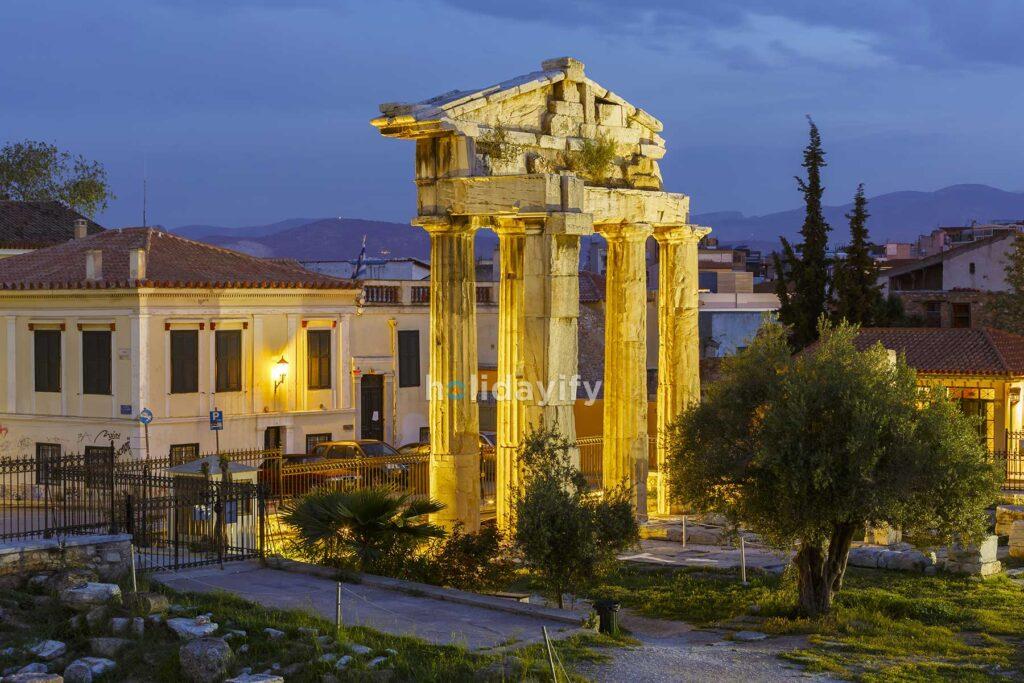 Atina Eski Şehrinde, Roma Agorası
