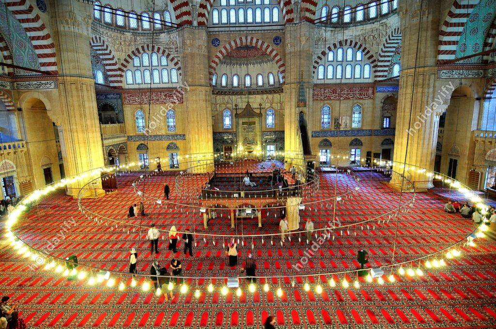Selimiye Cami, içten görüntüsü