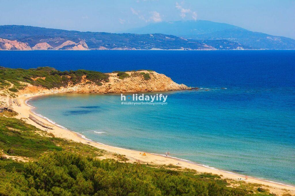 Elias plajı, Skiathos, Yunanistan