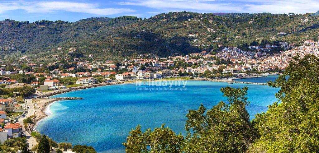 Skopelos Hora Kenti: Liman Manzarası