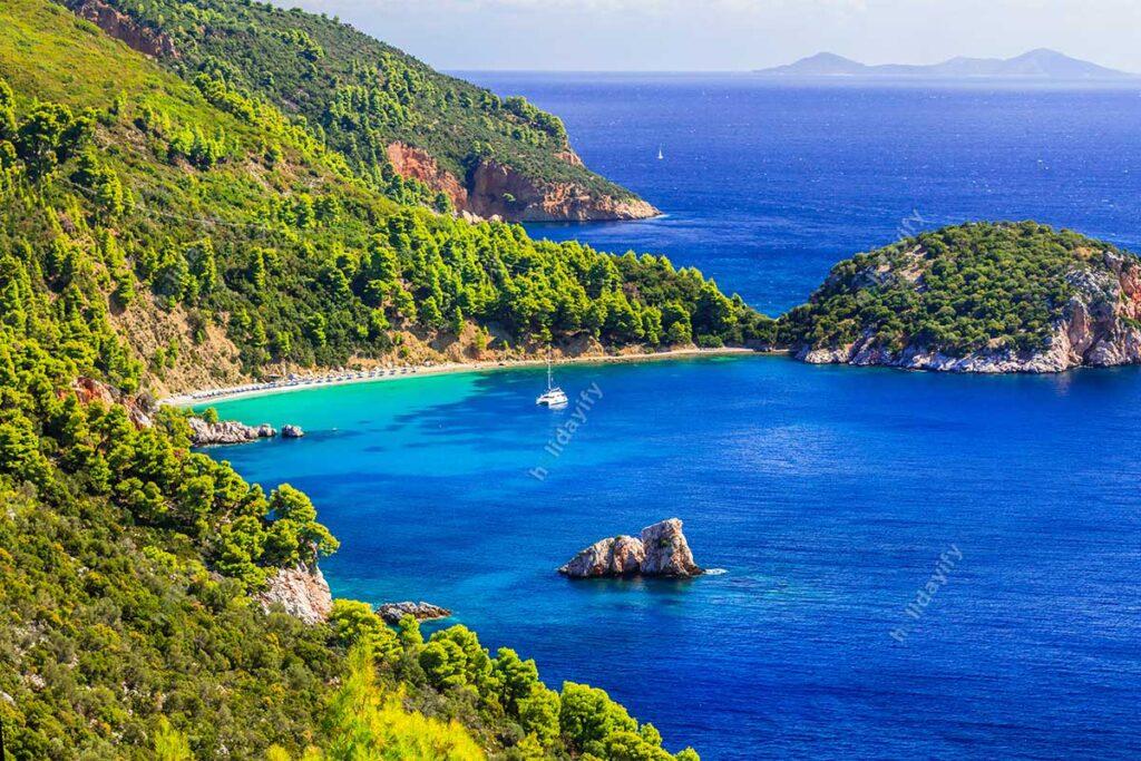 Stafilos Plajı, Skopelos Adası