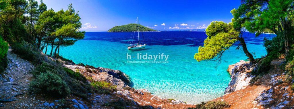Kastani plajı, Skopelos, Yunanistan