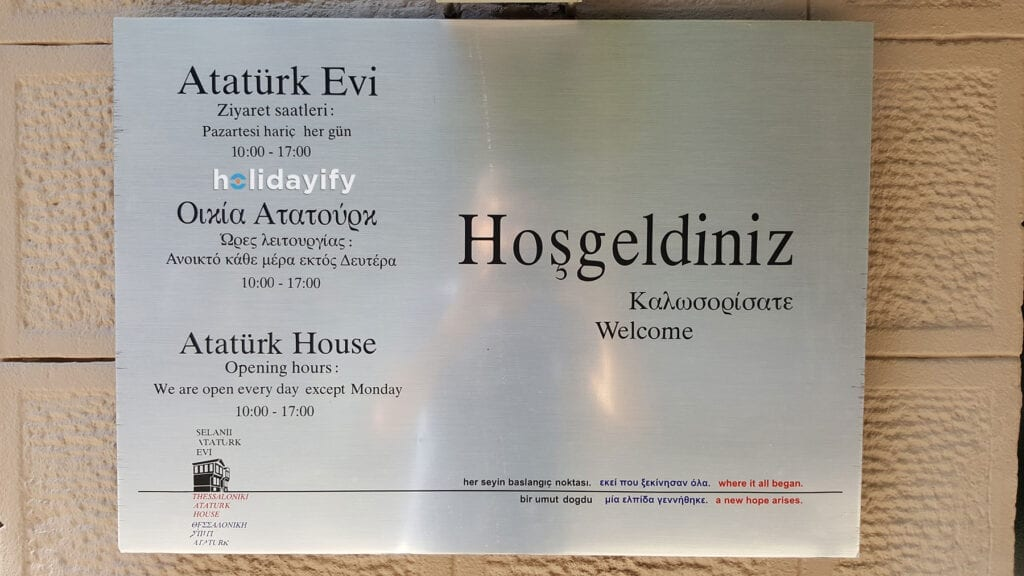Atatürk Evi Müzesi Açılış Kapanış Saatleri, Selanik, Yunanistan