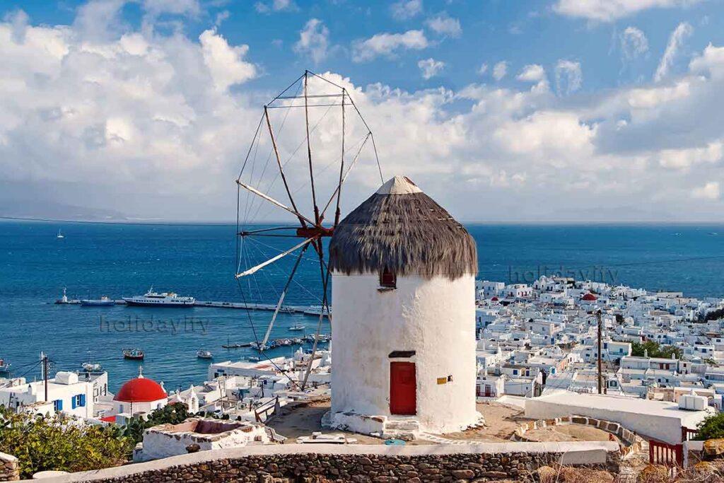 Mykonos Yeldeğirmeni, Yunanistan