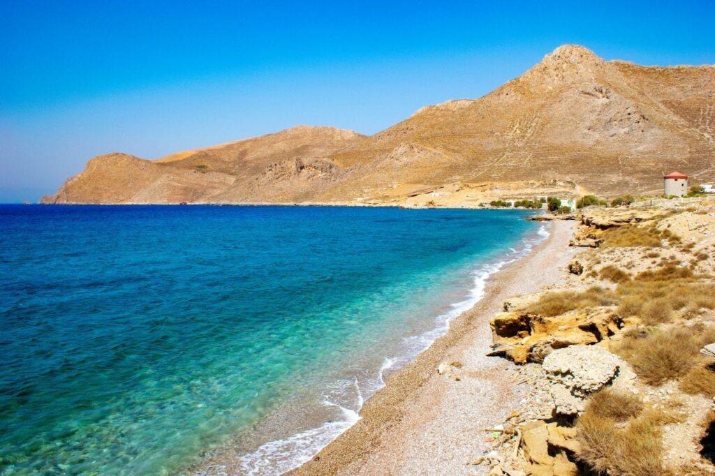 Agios Antonios Plajı, Tilos, Yunanistan