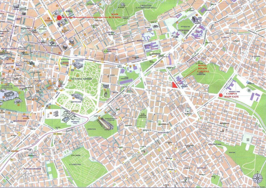 Atina Tarihi Yerler Haritası