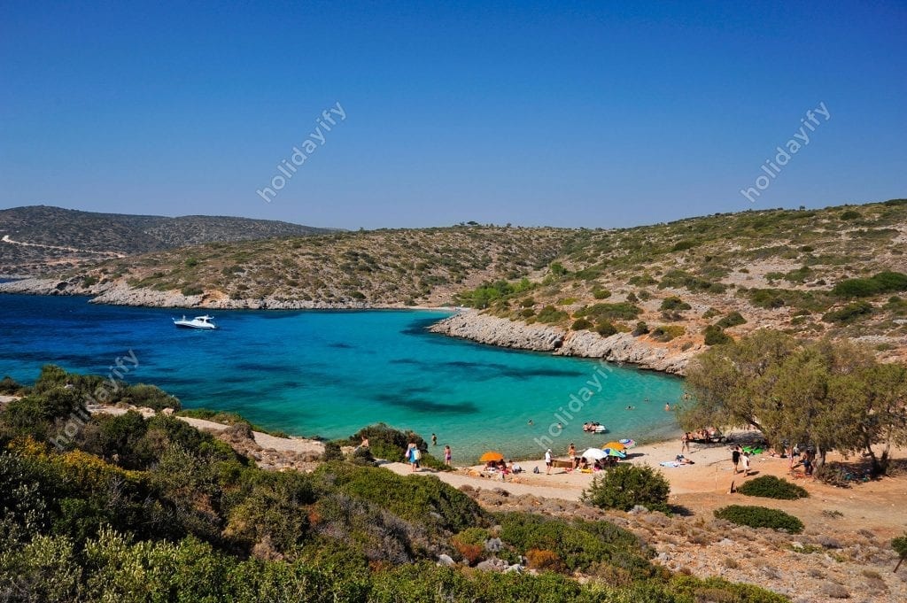 Agia Dynami plajı, Sakız adası