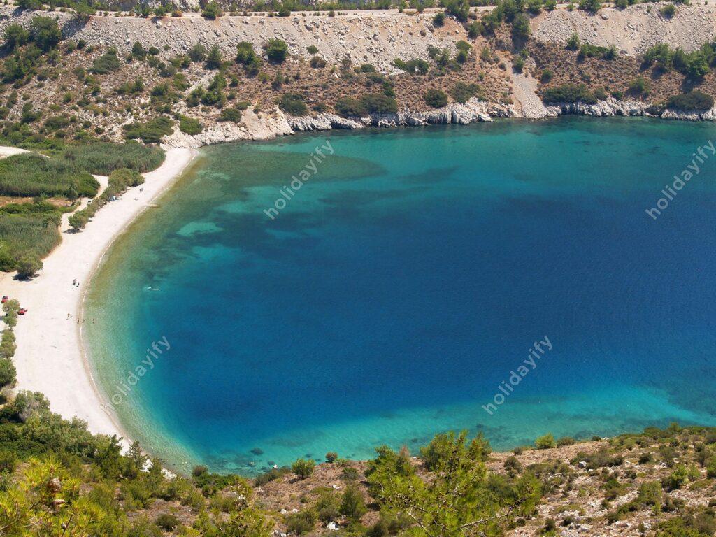 Elinda plajı, Sakız adası