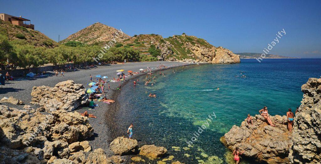 Mavra Volia plajı, Sakız adası