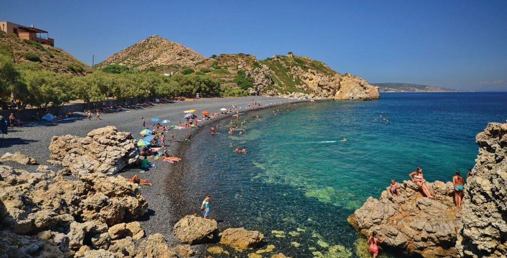Mavra Volia Plajı, Sakız Adası, Yunanistan