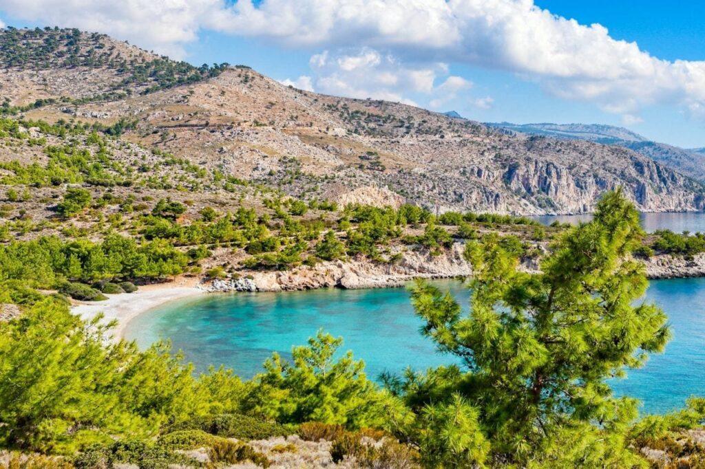 Tigani Makria Ammos plajı