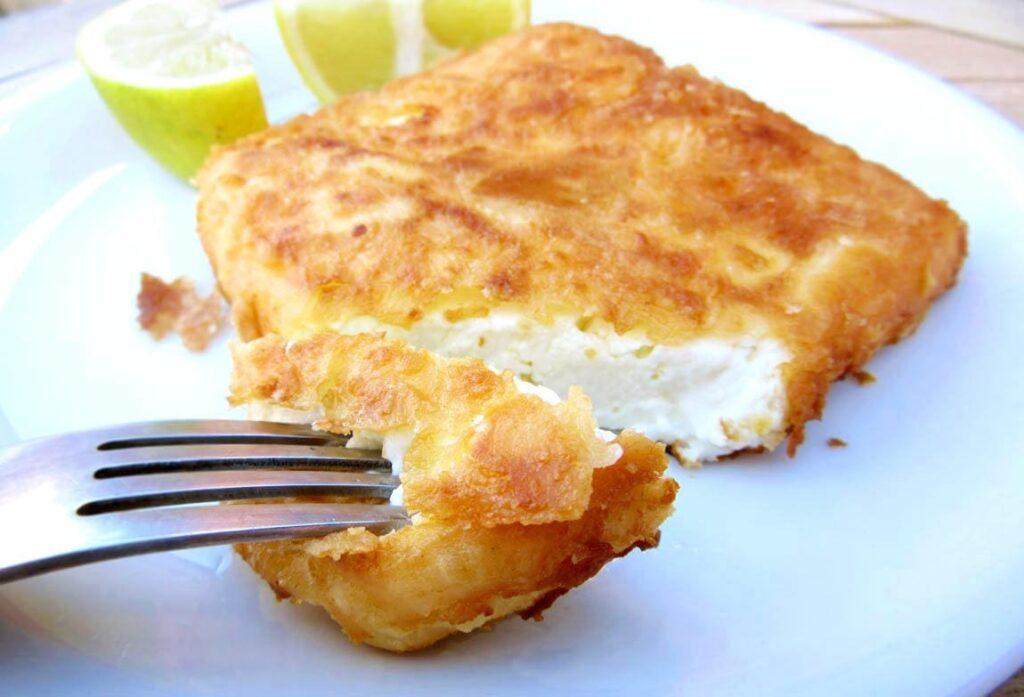 Saganaki (Peynir Kızartma) - Yunan Mutfağı Yemekleri
