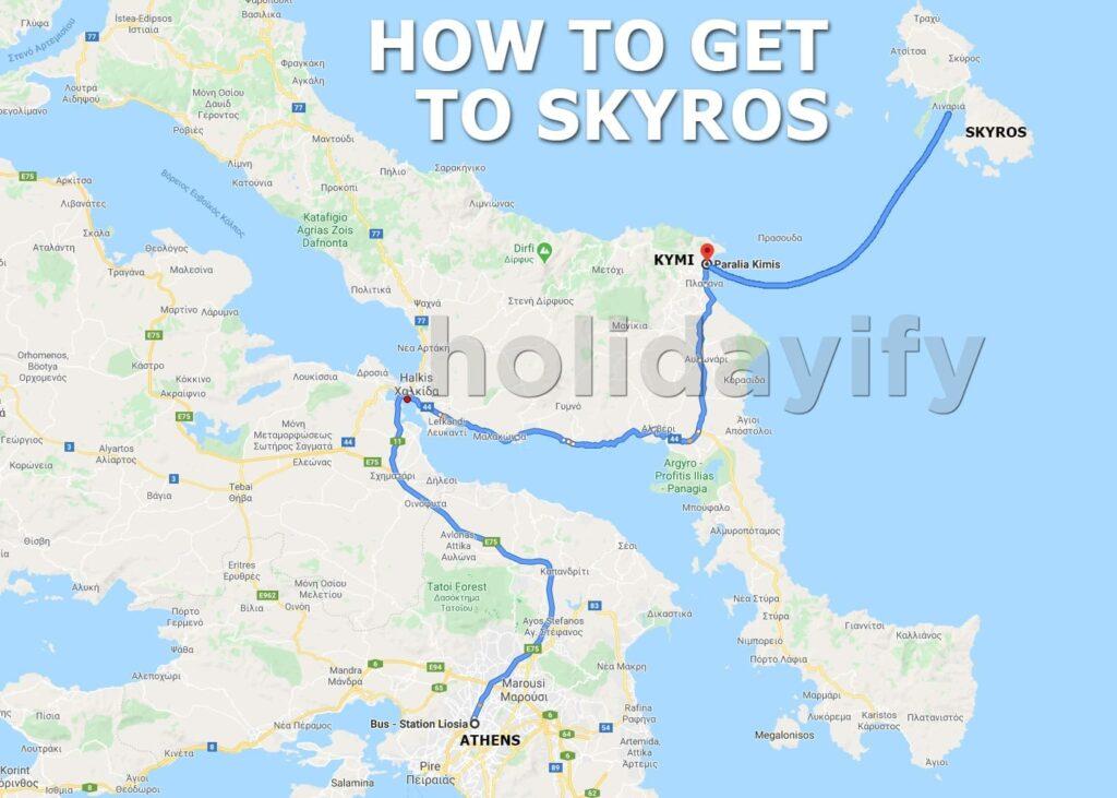 Skyros adasına nasıl gidilir