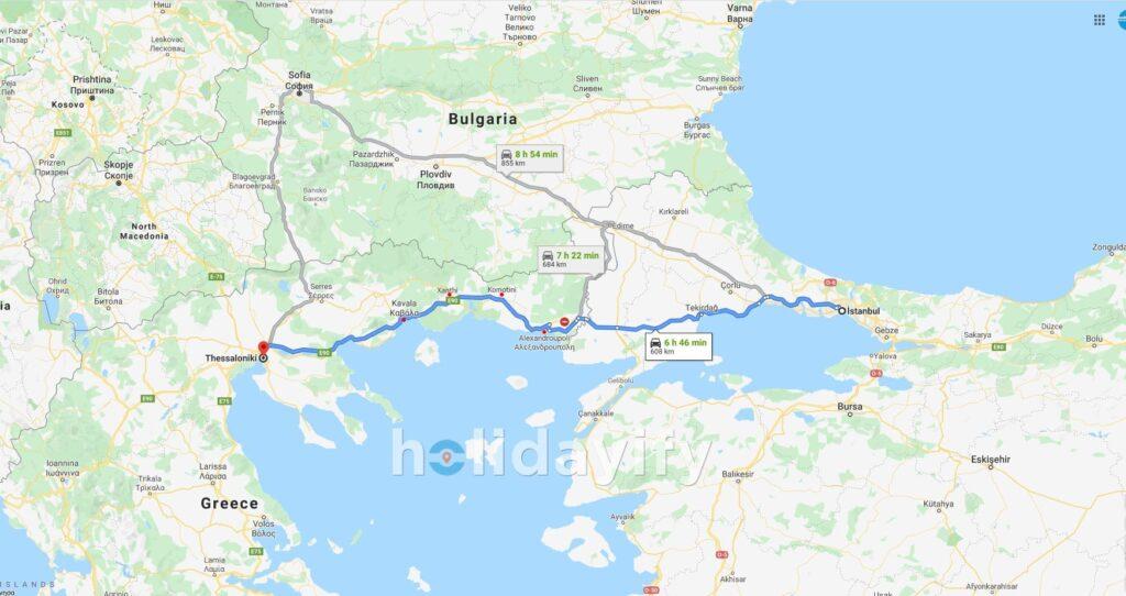 İstanbul'dan Selanik'e nasıl gidilir?