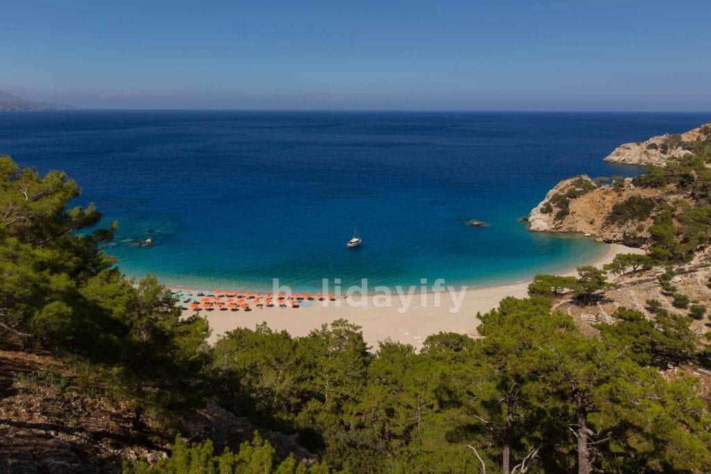 Apella Plajı, Karpathos adası, Yunanistan