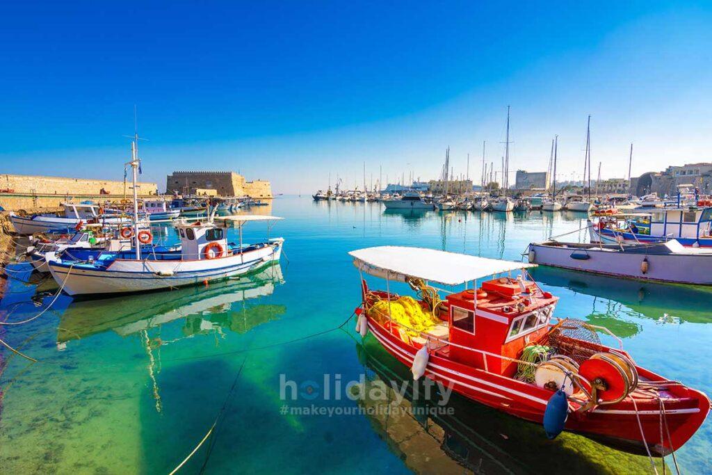 Liman ve Venedik Kalesi, Kandiye, Girit Adası