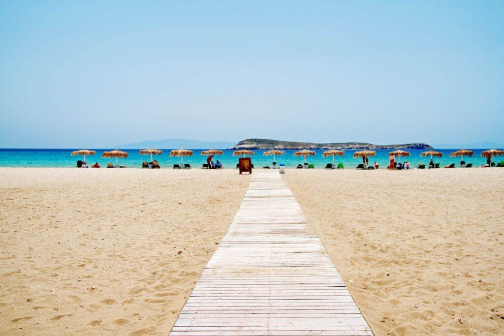 Golden Plajı, Paros Adası, Yunanistan