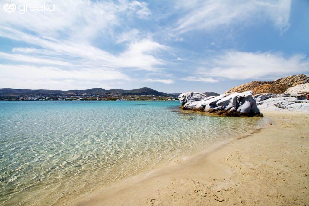 Pounda Plajı, Paros Adası, Yunanistan