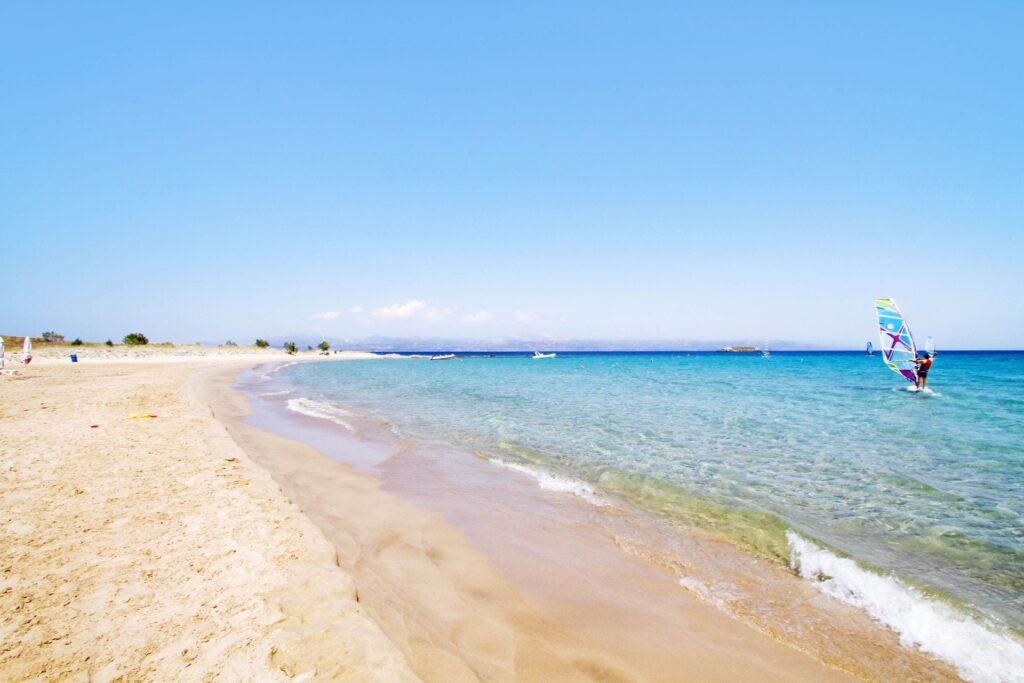New Golden Plajı, Paros Adası, Yunanistan