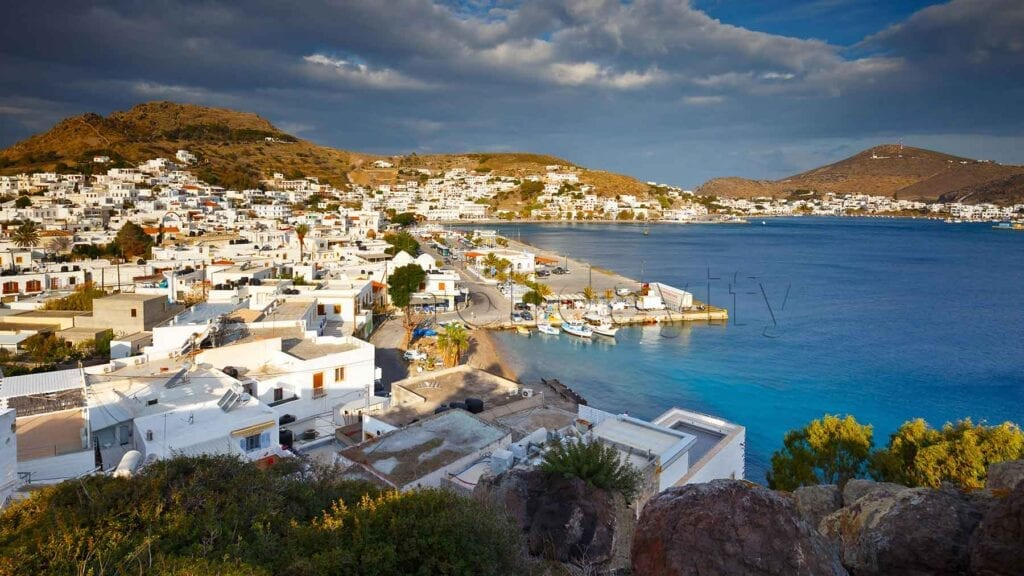 Patmos adasında güzel bir görüntü, Yunanistan