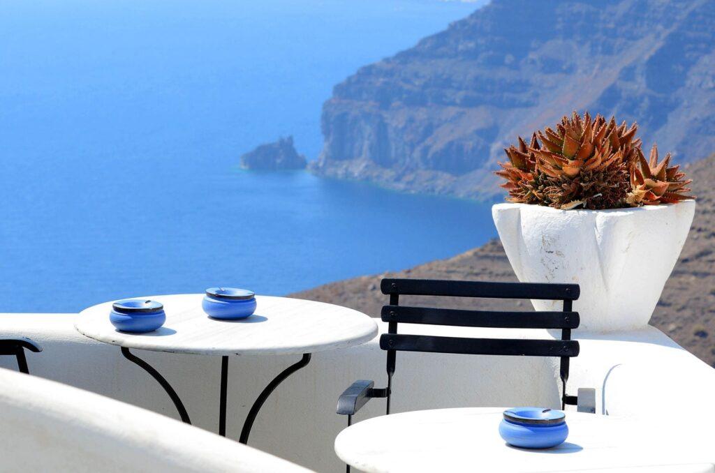 En güzel Santorini kafeleri