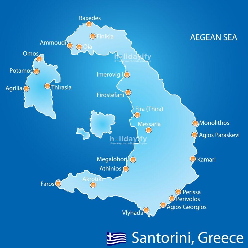 Santorini Haritası