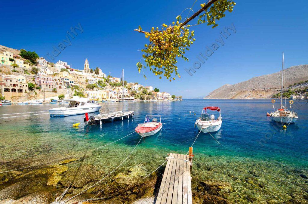 Simi beldesi, oniki adalar, Yunanistan