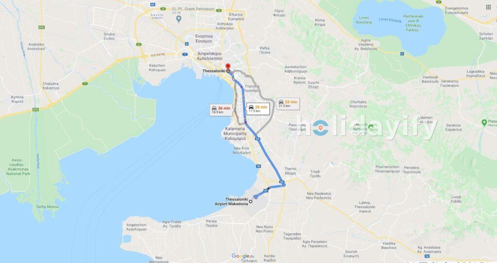 Selanik Havaalanından, Selanik Merkezine Nasıl Gidilir