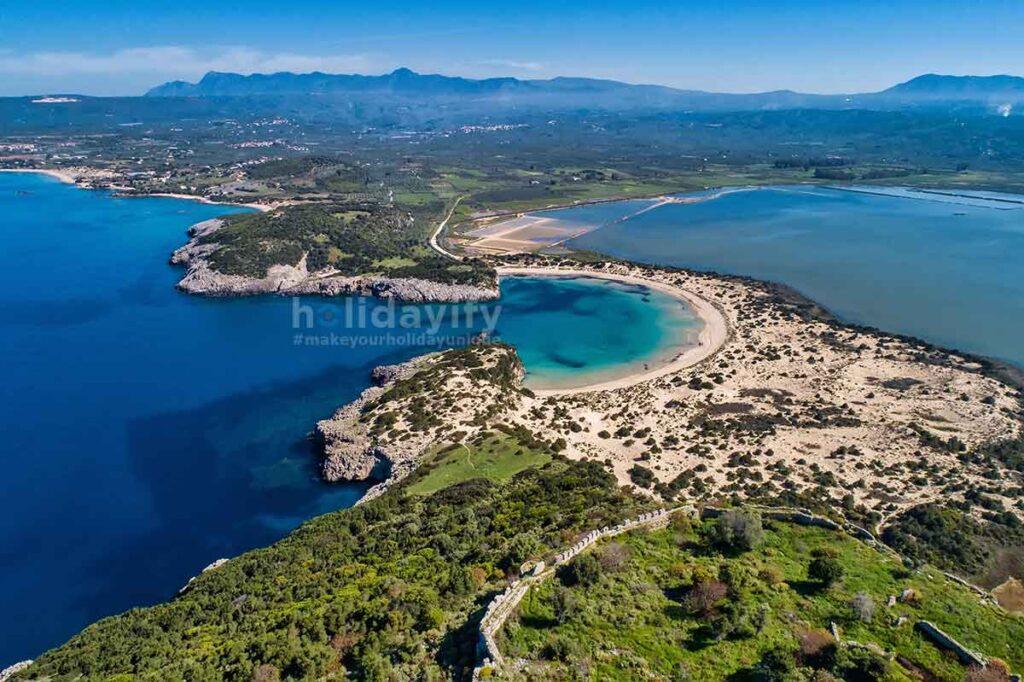 Voidokilia plajı, Messinia, Yunanistan