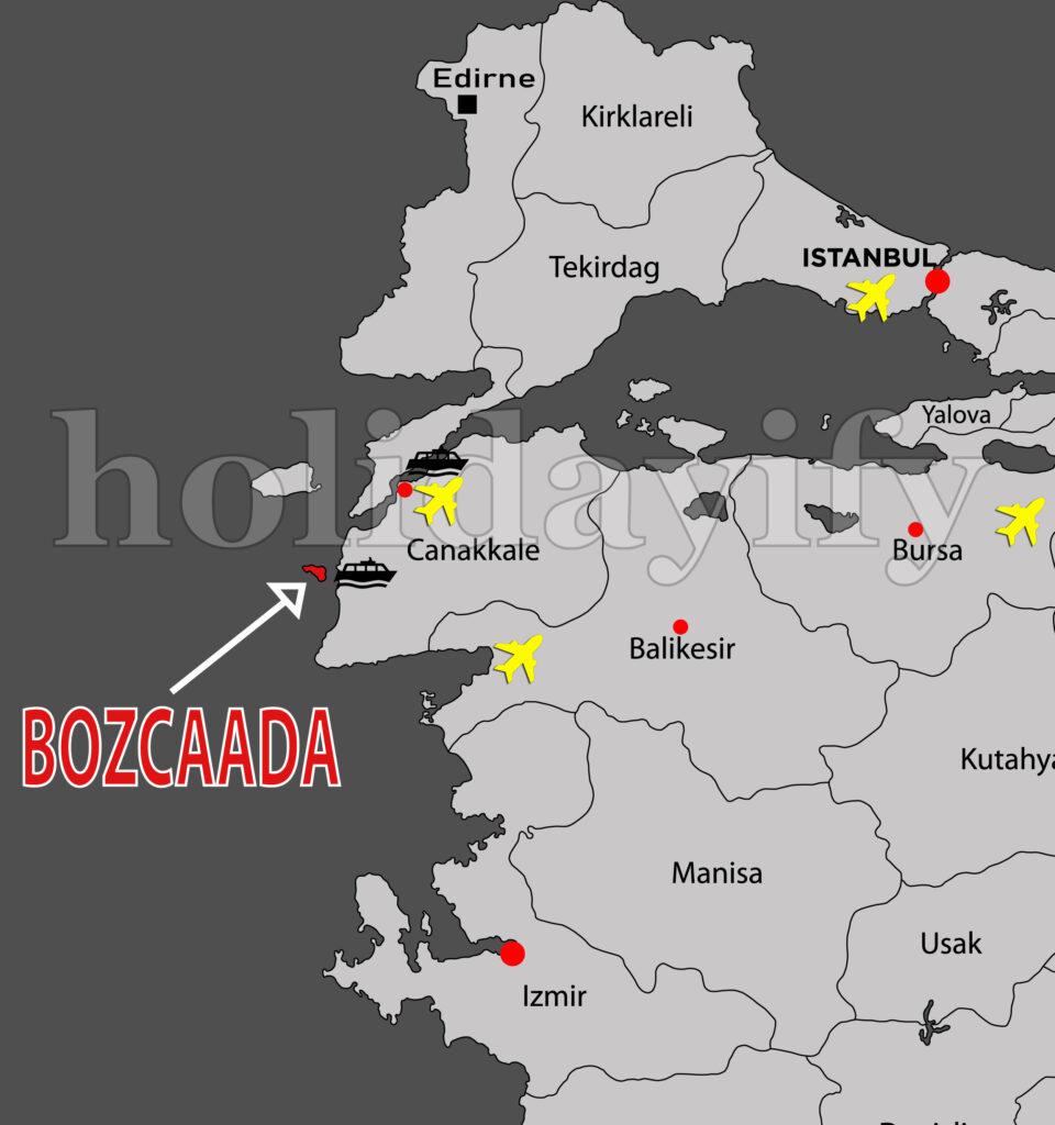 Bozcaada'ya nasıl gidilir